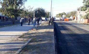 Obra de la 1° de marzo: El municipio reactiva los trabajos
