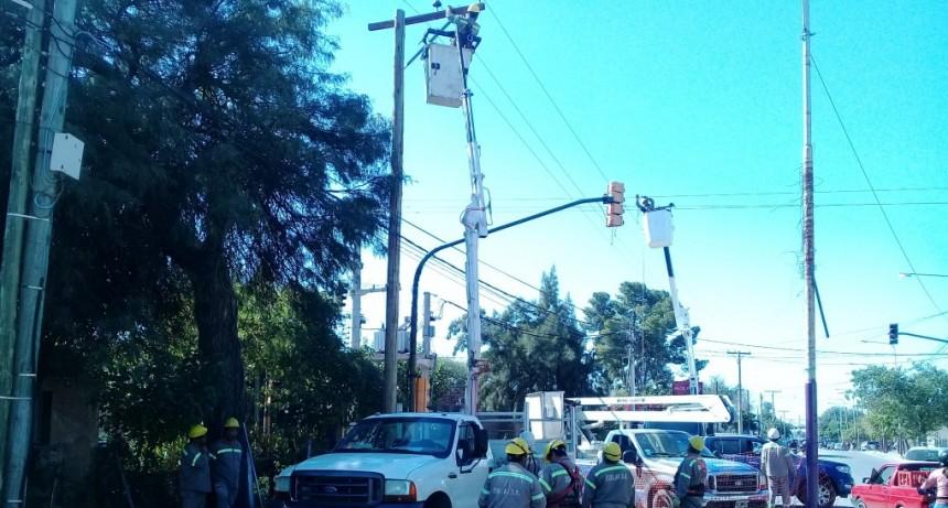 EDELaR renueva postes de tendido eléctrico en barrios de la capital