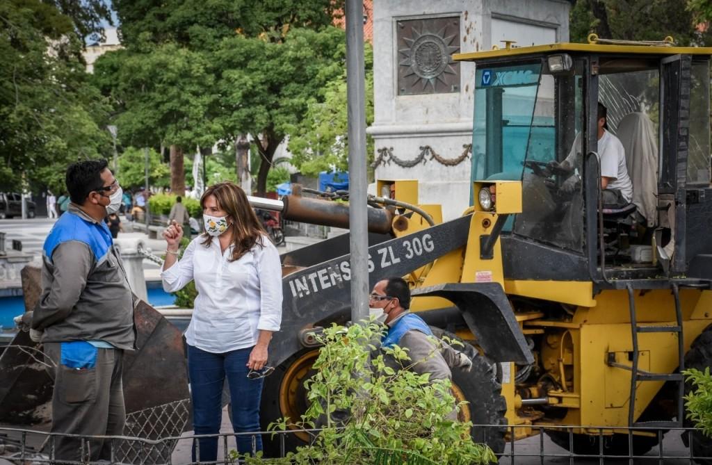 Municipio realizó tareas de recuperación tras el temporal de viento