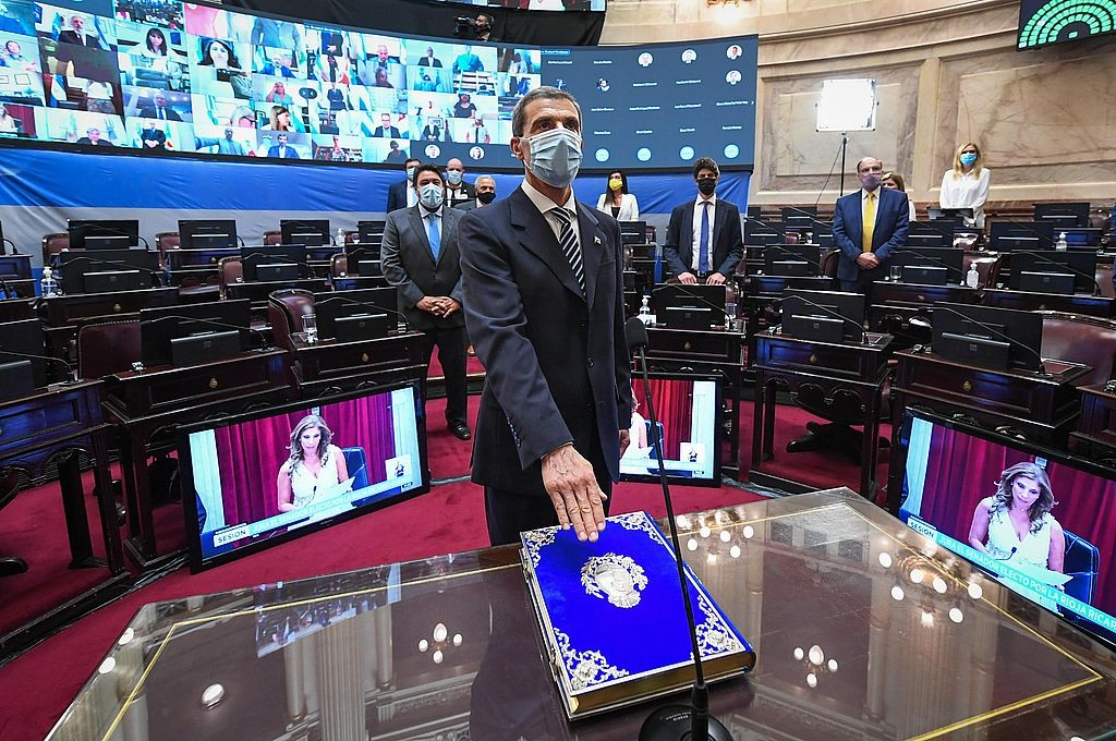 Ricardo Guerra asumió en el Senado en reemplazo de Carlos Menem