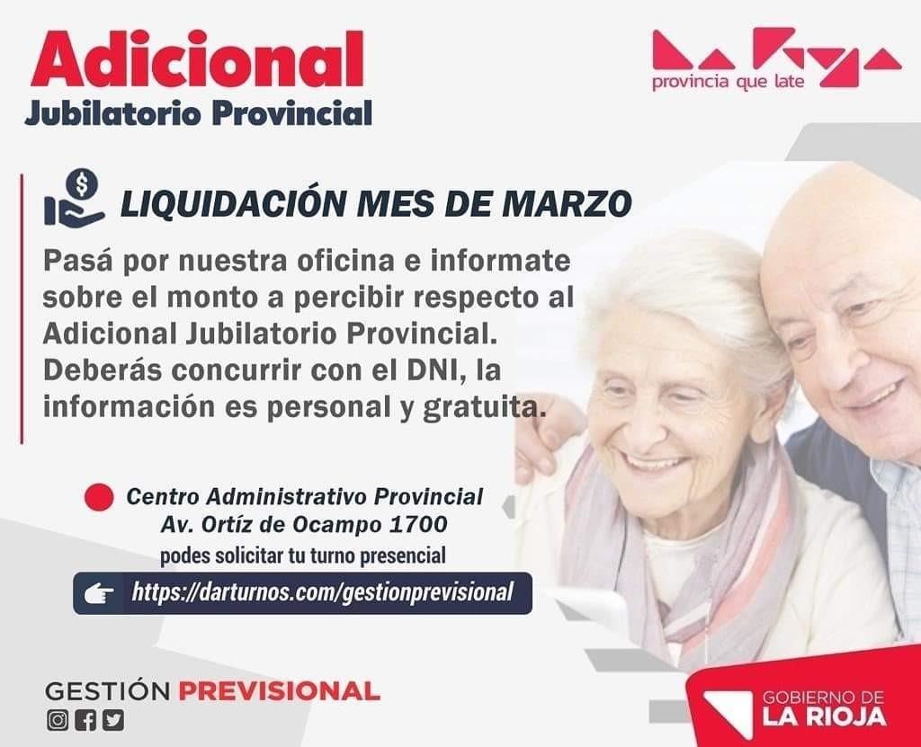 El gobierno provincial convoca a las y los jubilados adheridos a la Ley del Adicional Jubilatorio Provincial