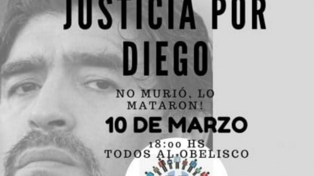 La familia de Maradona pide que vayan todos al Obelisco para pedir justicia por la muerte del Diez