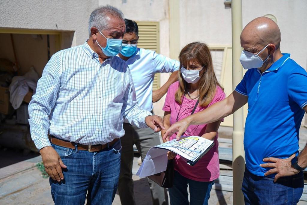 Vergara recorrió la obra del Hospital Luis Pasteur de Chepes