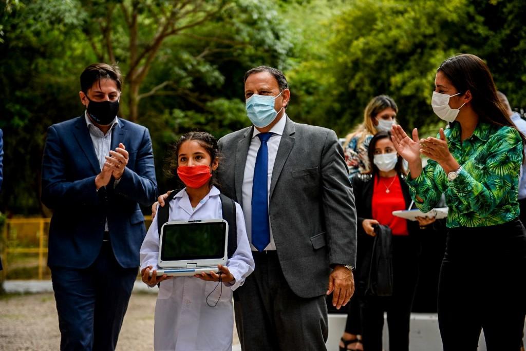 Quintela y el ministro Nicolás Trotta inauguraron el ciclo lectivo 2021 en La Rioja