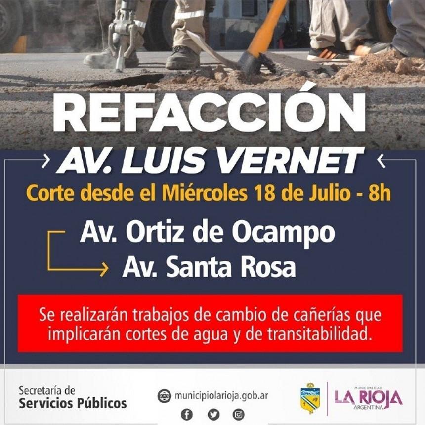 El municipio capitalino inicia tareas de refacción de la avenida Luis Vernet
