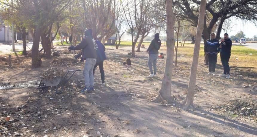 El municipio realizó operativo de limpieza en zona norte