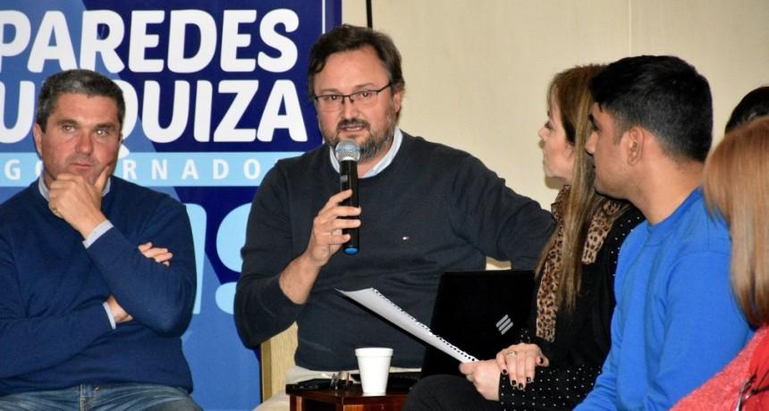 Paredes Urquiza presentó su plan de salud en caso de ser gobernador