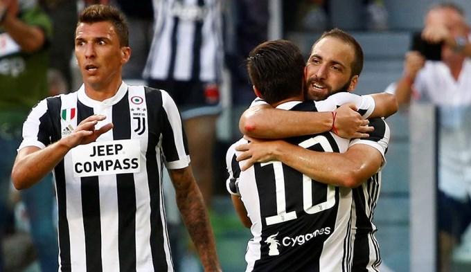 Higuaín y Dybala contribuyeron en goleada de la Juve