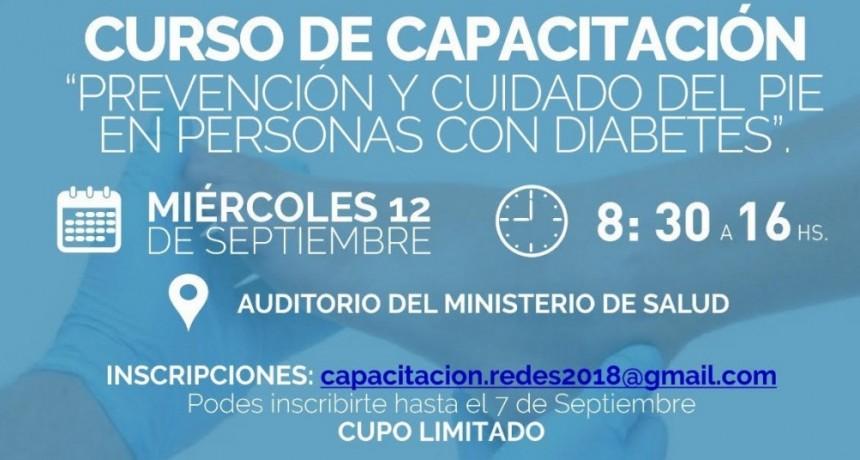 Brindarán curso de capacitación sobre prevención y cuidados del pie en personas con diabetes
