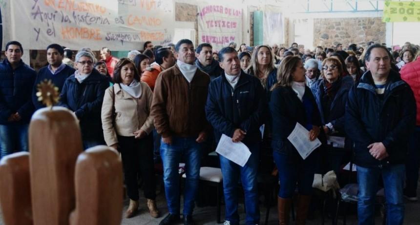Sergio Casas participó de los actos por un nuevo aniversario de la muerte de Angelelli