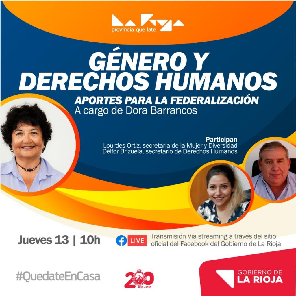 """Dora Barrancos brindará una charla sobre """"Género y Derechos Humanos, aportes para la federalización"""""""