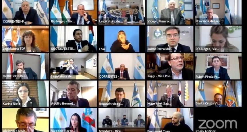 Primera reunión de las autoridades parlamentarias del país
