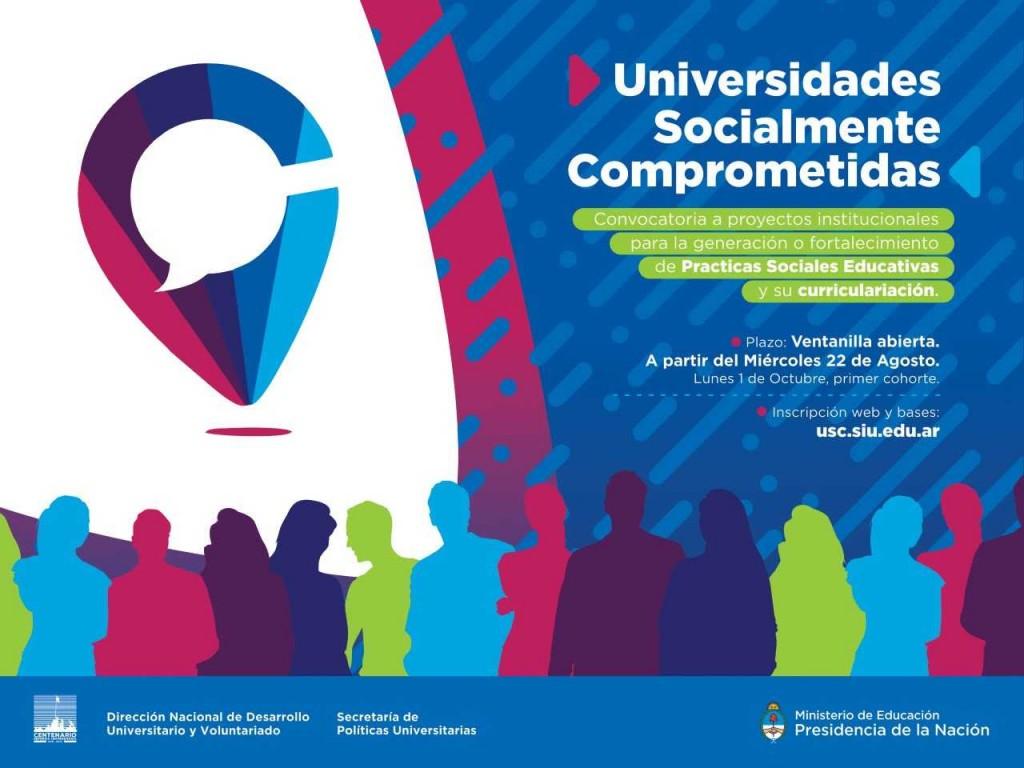 """Se encuentra abierta la convocatoria """"Universidades Socialmente Comprometidas"""""""
