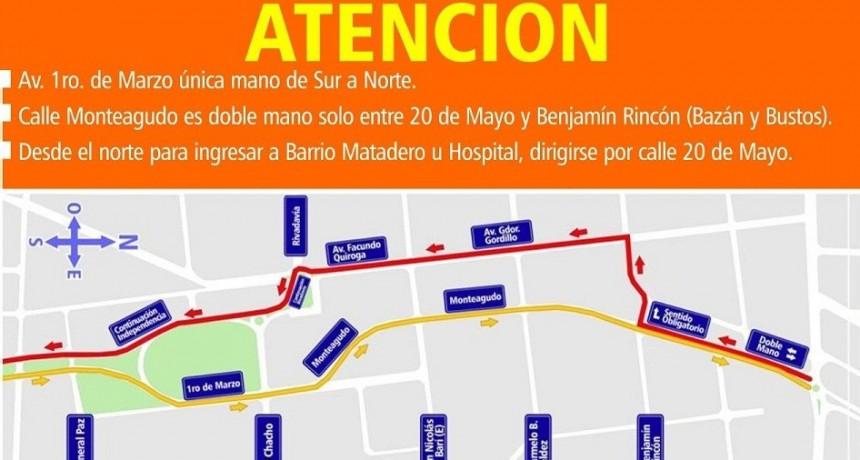 Transito: nueva traza del conector vial 1° de marzo - Independencia y Monteagudo