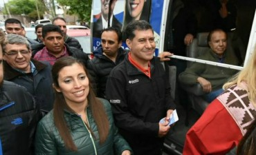 Gran apoyo de los vecinos de la zona este a Carlos Menem