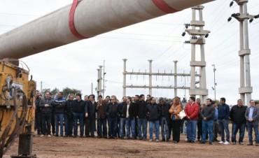 El gobierno provincial puso en marcha la tan anhelada obra de la línea de 132 Kv en los Llanos