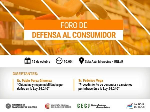 Se realizará Foro de Defensa del Consumidor en la UNLaR