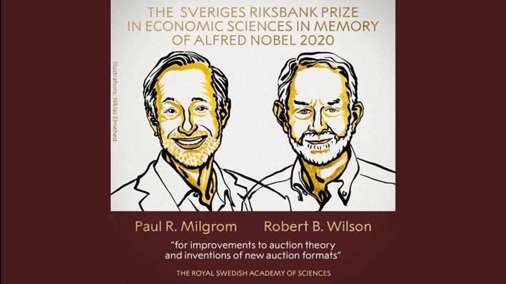El Nobel de Economía fue para dos estadounidenses por mejoras en la teoría de las subastas