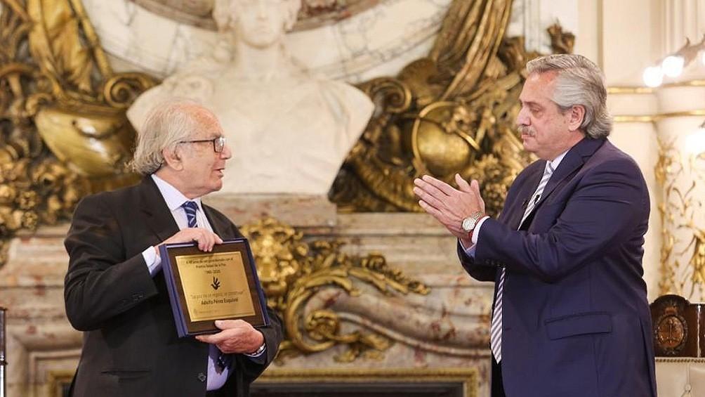 El Presidente destacó a Pérez Esquivel como