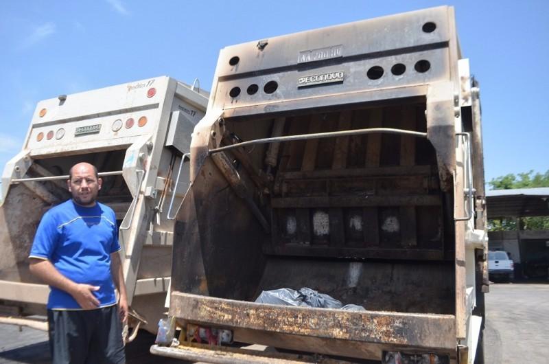 Incendio de camiones de residuos: Encontraron elementos en el Parque Automotor Municipal