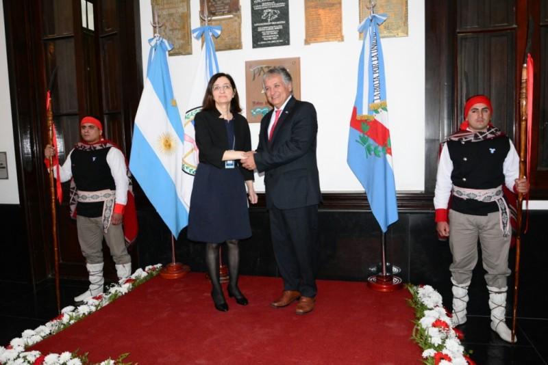 Bosetti recibe a la Embajadora de Turquía