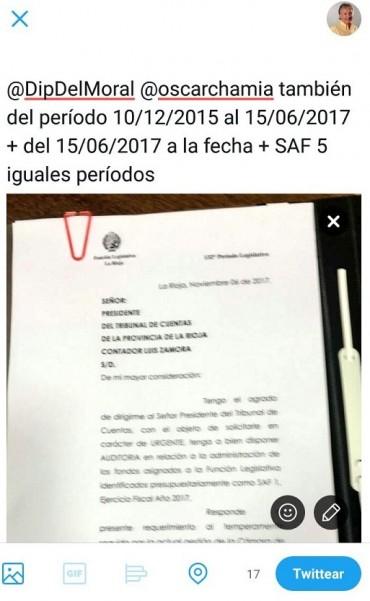 Bosetti le pidió a los diputados Chamía y Del Moral que también auditen el SAF 5