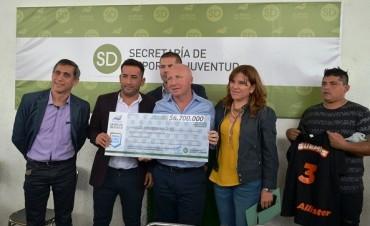 Nación entregó subsidios a clubes riojanos por más de 6 millones de pesos