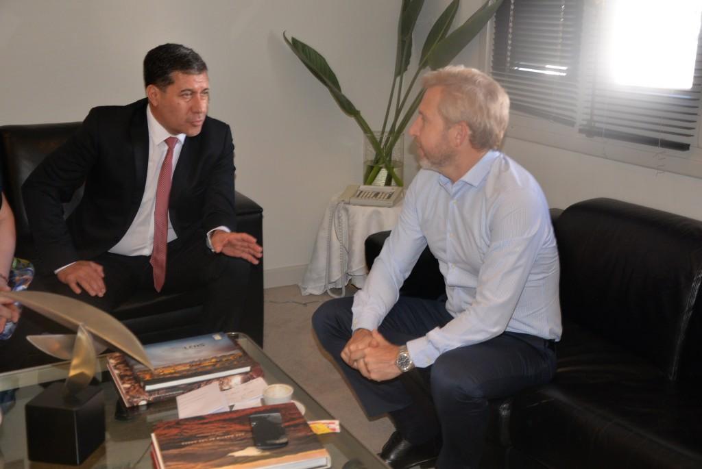 Casas se reunió con el ministro Frigerio