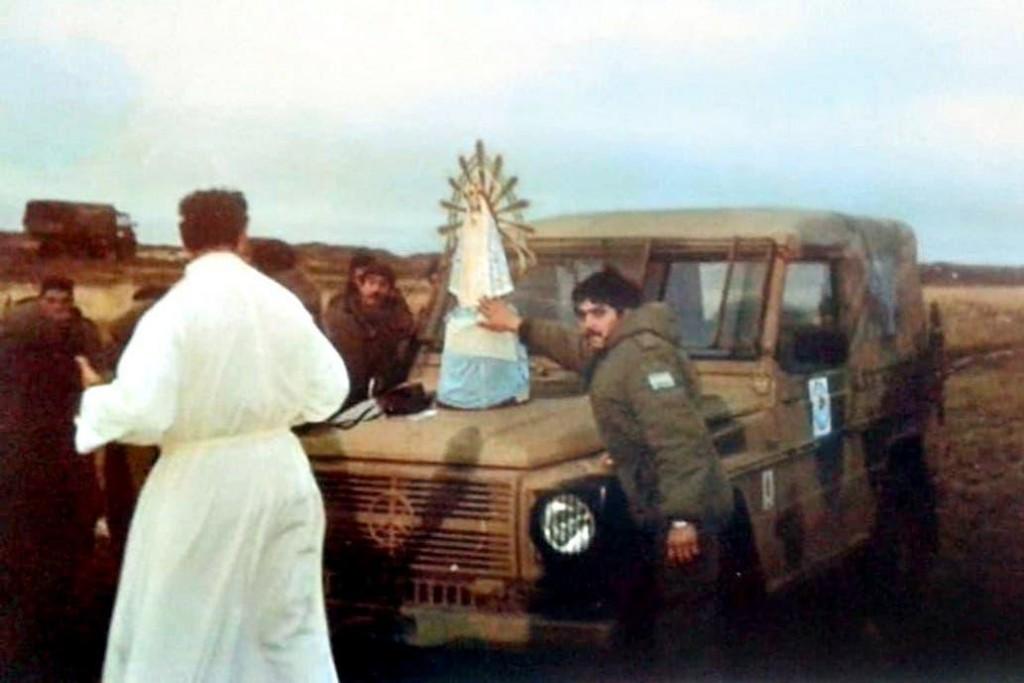 Llega al país la Virgen de Luján que estuvo en Malvinas