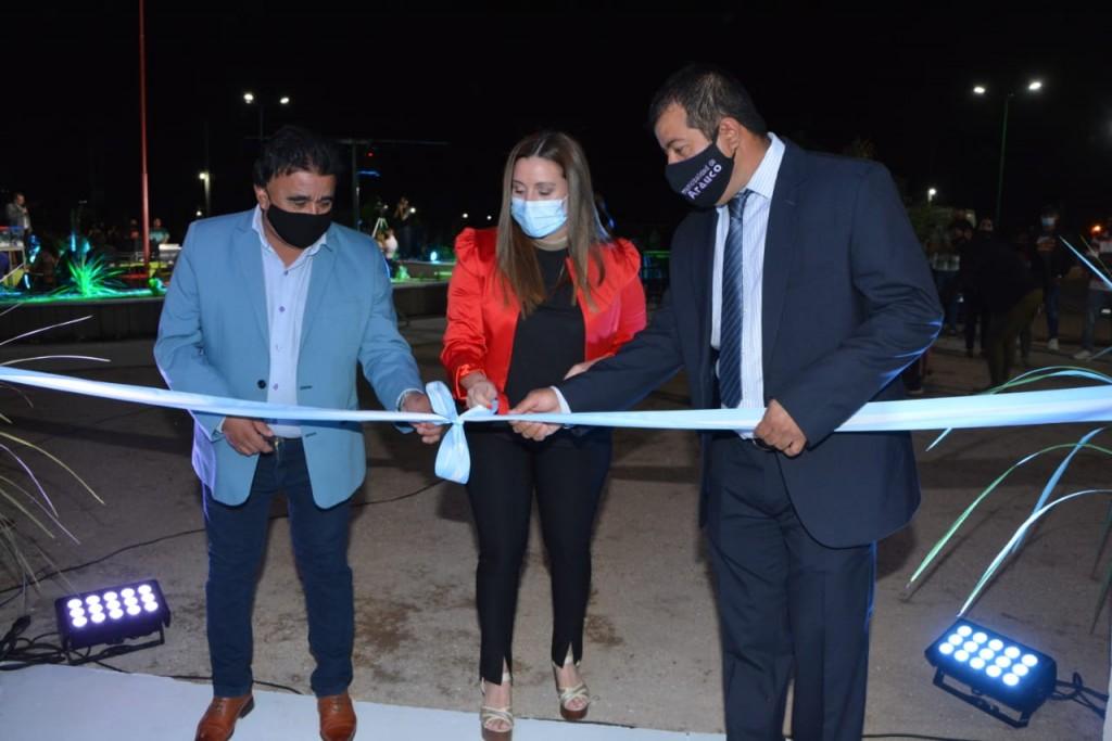 En Aimogasta se realizó la inauguración de una plaza en el barrio Cooperativa