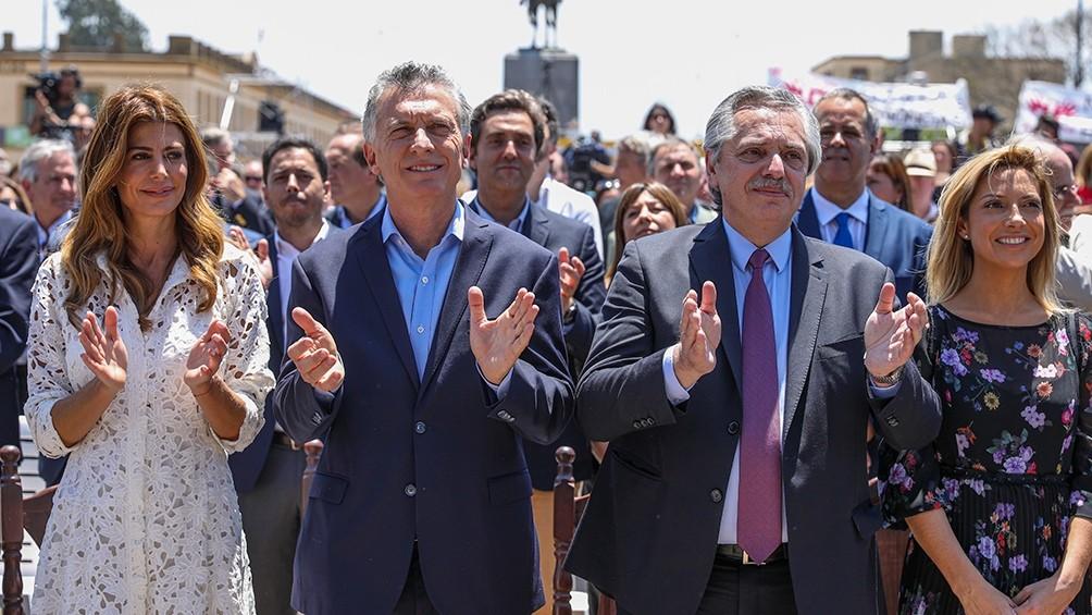 Macri recibió a Alberto Fernández en Luján