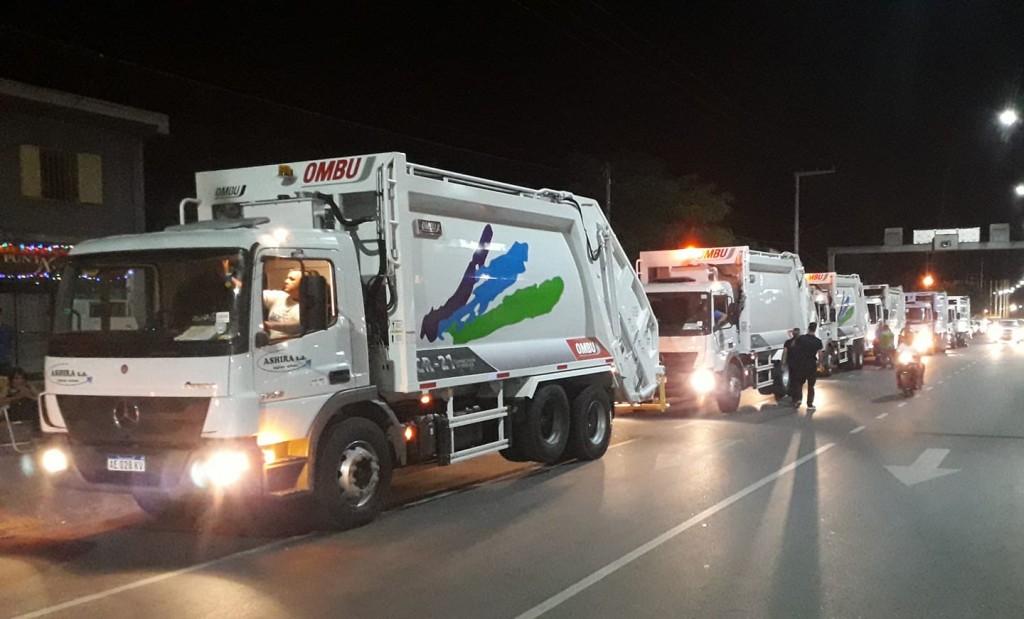 Llegaron los camiones recolectores alquilados por el municipio