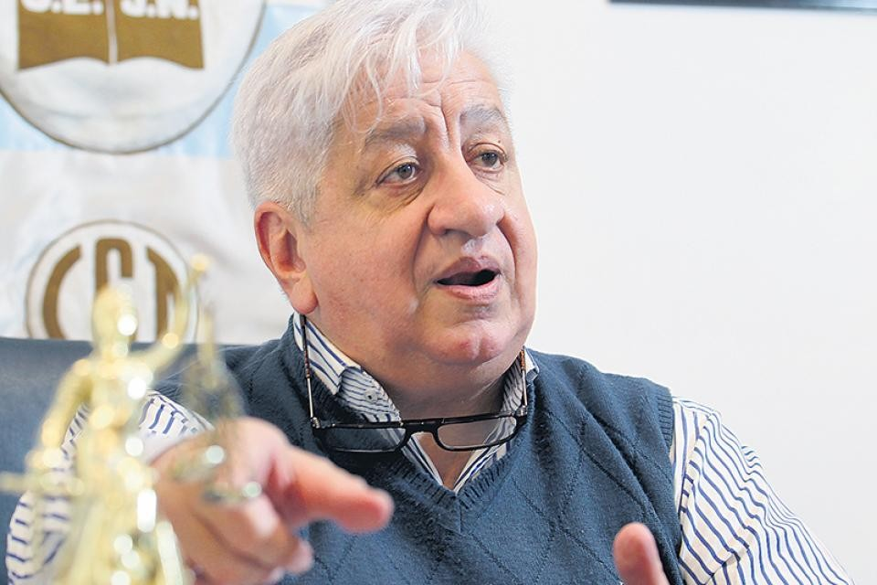 Julio Piumato está internado tras dar positivo de coronavirus