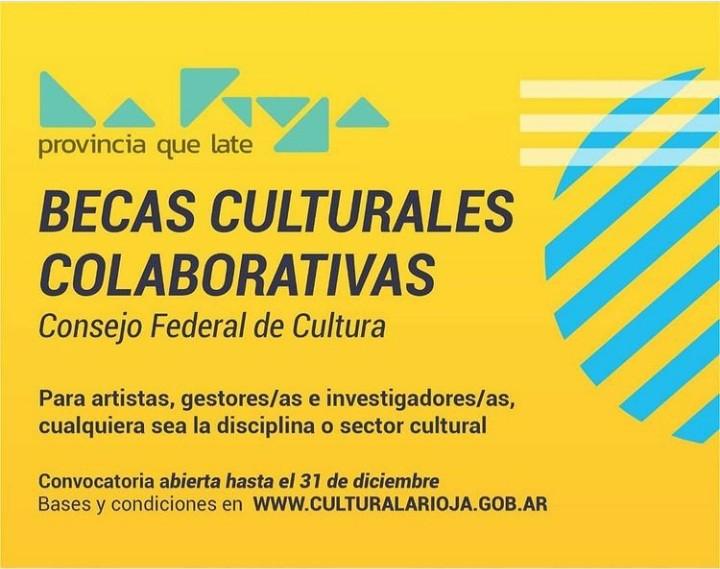 Continúa la convocatoria a las becas 2020 del Consejo Federal de Cultura y el Ministerio de Cultura de la Nación