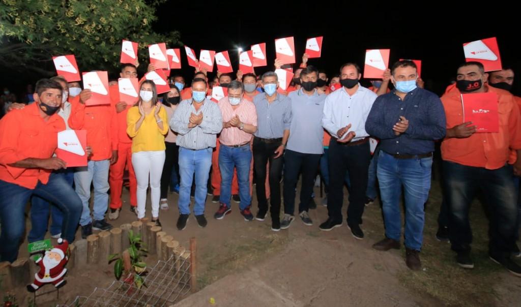 Chañar: Se entregó el pase a planta a 28 trabajadores