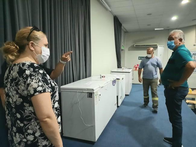 Acondicionan el hospital universitario para la vacunación contra el coronavirus