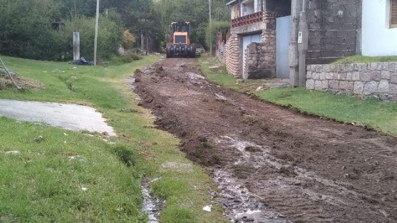 Catamarca: Siguen los trabajos en el Rodeo tras el intenso temporal de lluvia y viento