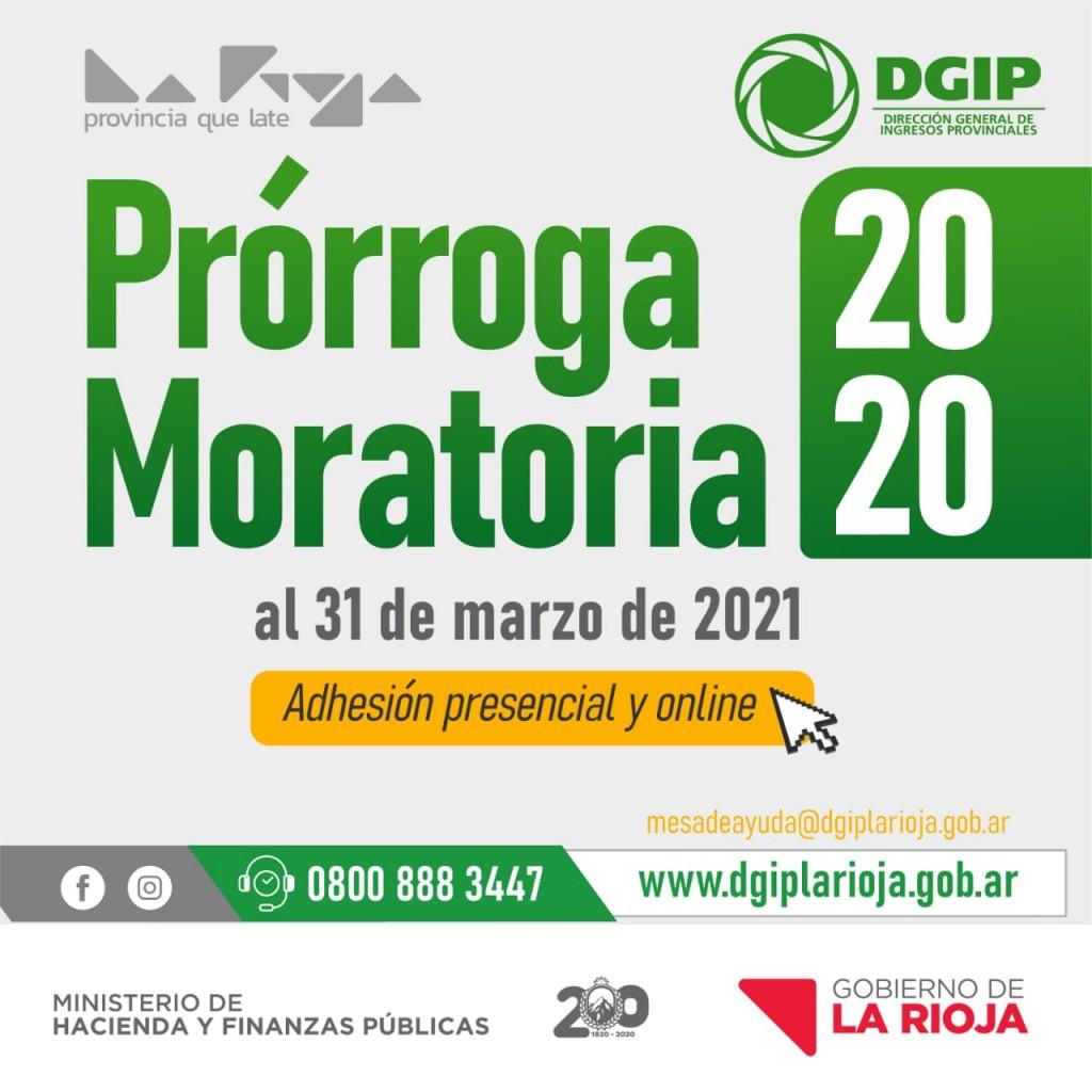 DGIP comunica prórroga de la Moratoria 2020