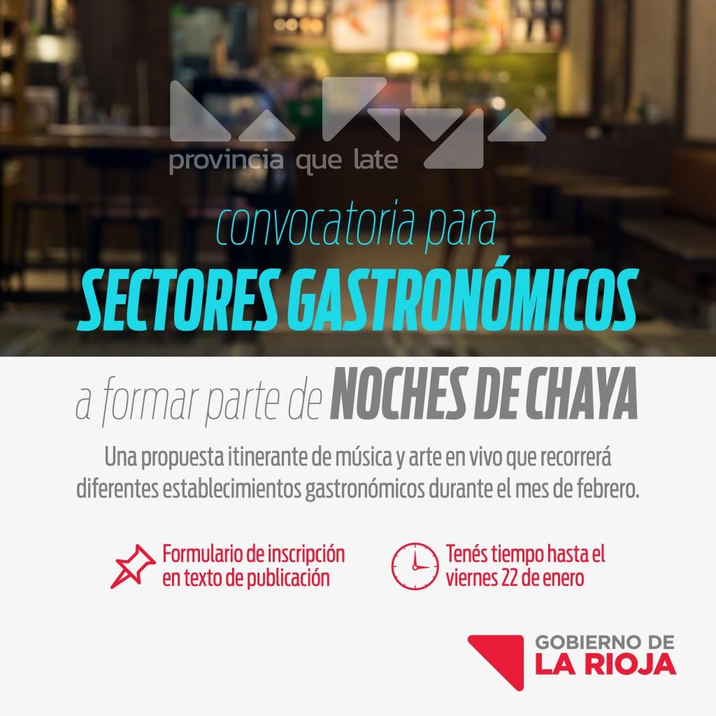 """Gobierno convoca a sectores gastronómicos a sumarse a la movida """"Noches de Chayas"""""""