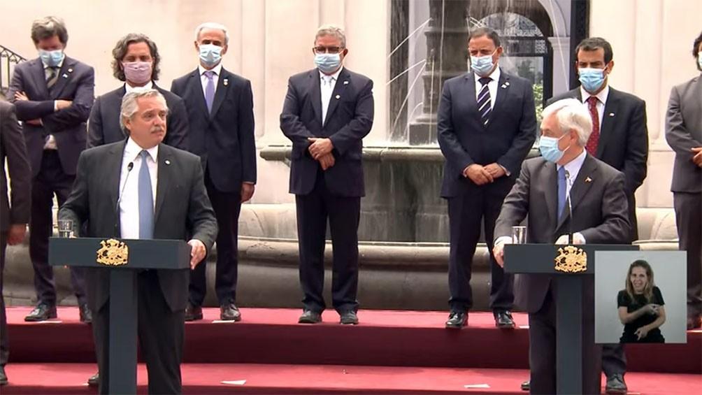 El presidente chileno transmitió el respaldo por Malvinas y abogó por la reanudación del diálogo por la soberanía