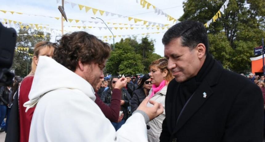 Casas participó de las fiestas patronales en honor a Santa Rita