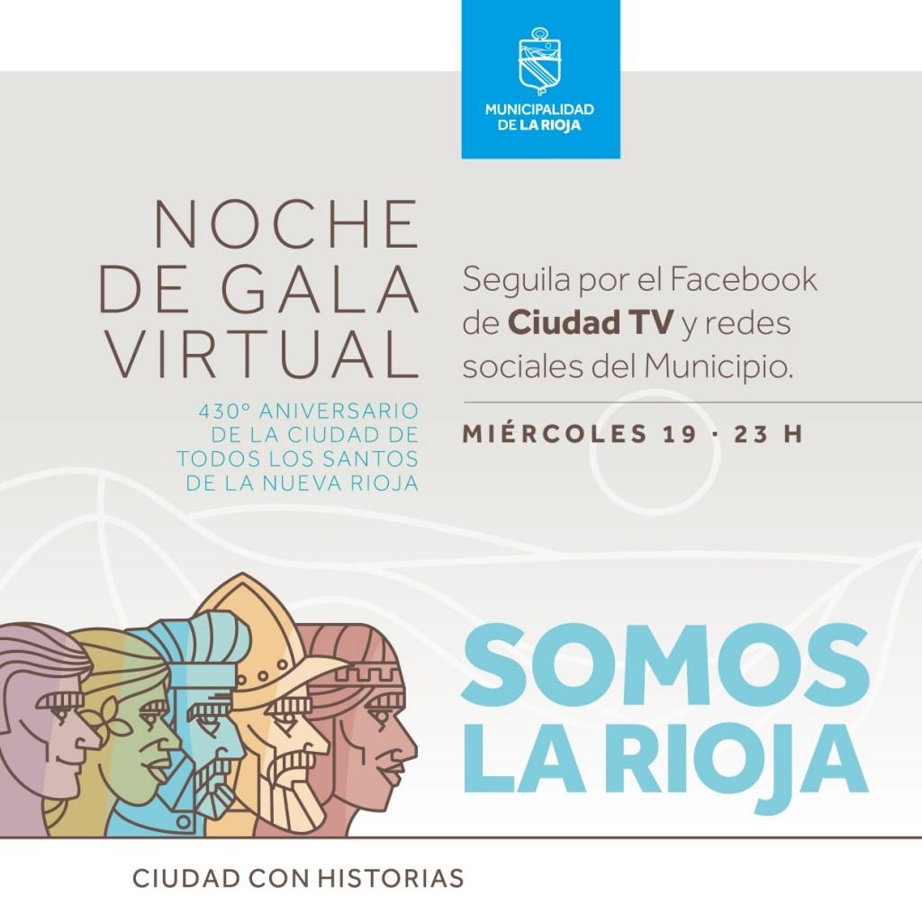 Gala Virtual por los 430 años de la Ciudad de Todos los Santos de la Nueva Rioja