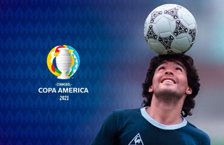 La Conmebol homenajeó a Diego Maradona