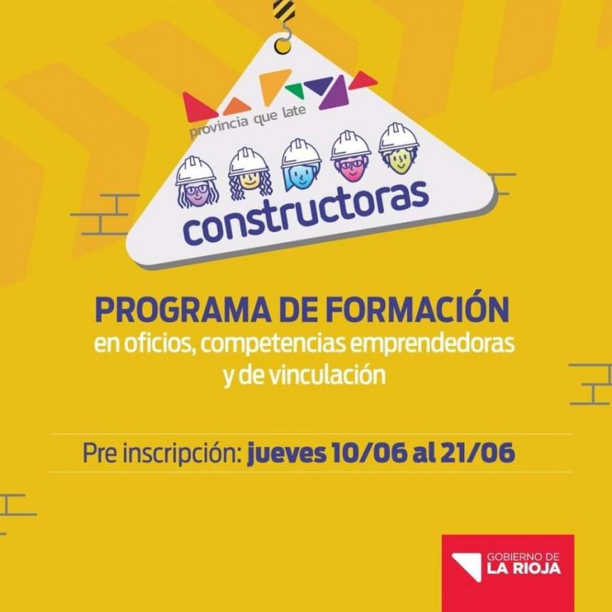 """Abren preinscripción del programa """"Constructoras"""""""