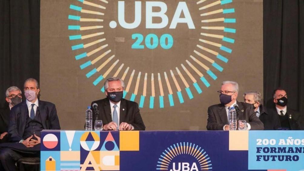 El Presidente participó de la conmemoración del bicentenario de la UBA