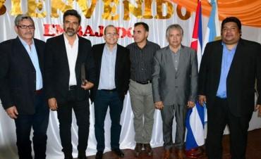 Visita del Embajador de Cuba: Bosetti acompañó al diplomático en Chamical