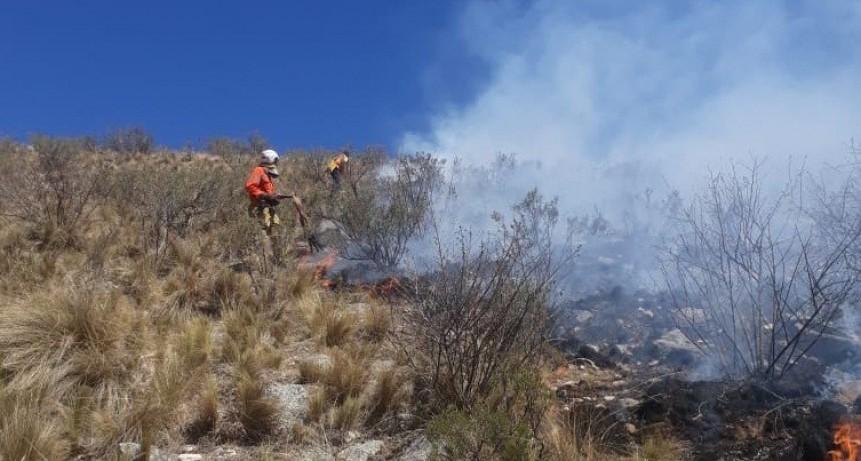 Controlaron el incendio en cercanías a Guanchín