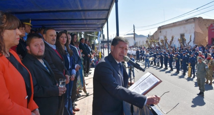 Casas participó del aniversario de Nonogasta
