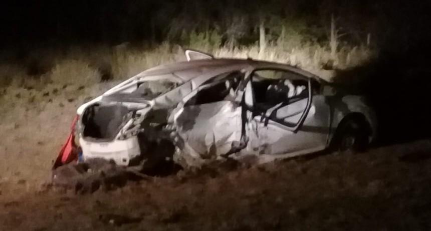 Una mujer murió tras protagonizar accidente en ruta 38