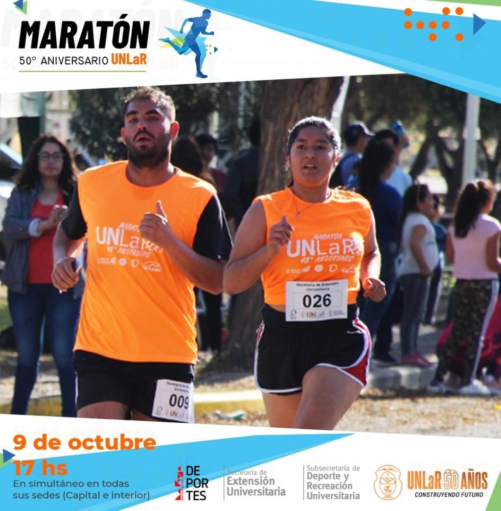 La Maratón 50° aniversario de la UNLaR se realizará el sábado 9 de octubre